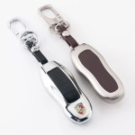 Alu Hartschalen Schlüssel Case passend für Porsche Autoschlüssel  HEK2-PE1