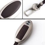 Alu Hartschalen Schlüssel Case passend für Nissan Autoschlüssel  HEK2-N6
