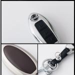Alu Hartschalen Schlüssel Case passend für Nissan Autoschlüssel  HEK2-N8