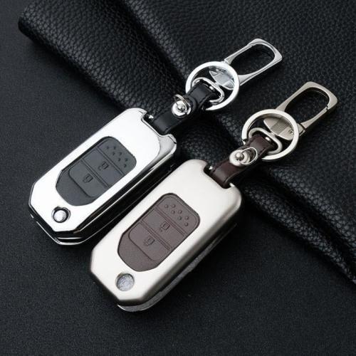 Alu Hartschalen Schlüssel Case passend für Honda Autoschlüssel  HEK2-H9