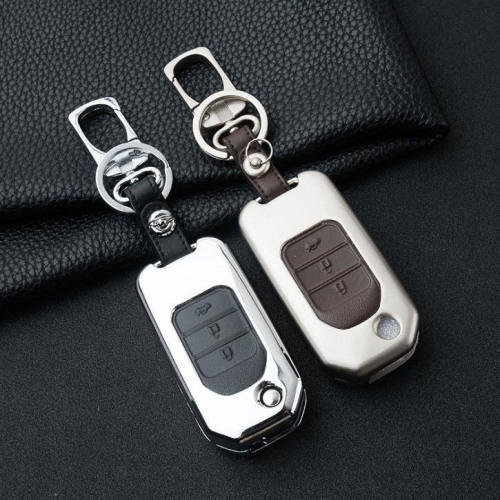 Alu Hartschalen Schlüssel Case passend für Honda Autoschlüssel  HEK2-H10