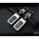 Alu Hartschalen Schlüssel Case passend für Honda Autoschlüssel chrom/schwarz HEK2-H11-29