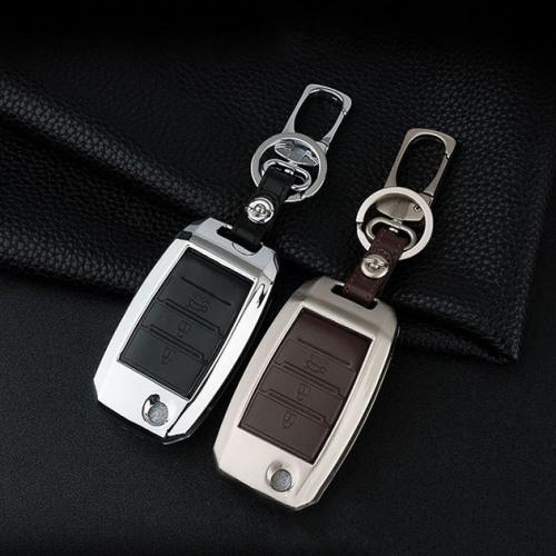 Alu Hartschalen Schlüssel Case passend für Kia Autoschlüssel  HEK2-K3