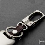 Alu Hartschalen Schlüssel Case passend für Hyundai, Kia Autoschlüssel  HEK2-D3