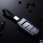 Alu Schlüssel Cover für Volkswagen Schlüssel inkl. Lederband  HEK34-V6