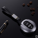 Alu Schlüssel Cover für MINI Schlüssel inkl. Lederband  HEK34-MC3