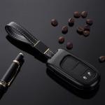 Alu Schlüssel Cover für Jeep, Fiat Schlüssel inkl. Lederband  HEK34-J4, J5, J6, J7