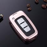 Alu Schlüssel Cover für Hyundai Schlüssel inkl. Lederband  HEK34-D3