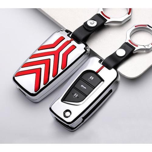 C-LINE Hartschalen Schlüssel Cover passend für Toyota Schlüssel anthrazit/schwarz HEK6-T1-51