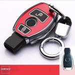 Hartschalen Schlüssel Cover passend für Mercedes-Benz Autoschlüssel mit Leuchtfunktion  HEK19-M6