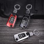 Hartschalen Schlüssel Cover passend für Opel Autoschlüssel mit Leuchtfunktion schwarz HEK19-OP5-1
