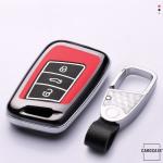 Hartschalen Schlüssel Cover passend für Volkswagen, Skoda, Seat Autoschlüssel mit Leuchtfunktion  HEK19-V4