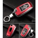 Hartschalen Schlüssel Cover passend für Ford Autoschlüssel mit Leuchtfunktion rot HEK19-F8-3