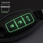 Hartschalen Schlüssel Cover passend für Nissan Autoschlüssel mit Leuchtfunktion  HEK19-N6