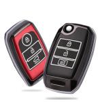 Hartschalen Schlüssel Cover passend für Kia Autoschlüssel mit Leuchtfunktion  HEK19-K3
