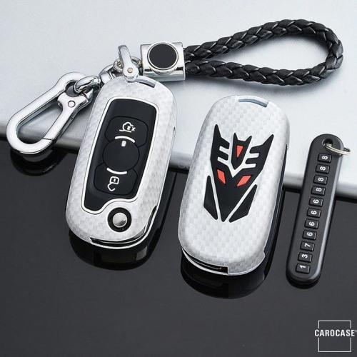 Nachleuchtende Schlüssel Cover passend für Opel Autoschlüssel blau HEK20-OP16-4
