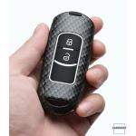 Nachleuchtende Schlüssel Cover passend für Mazda Autoschlüssel schwarz HEK20-MZ1-1
