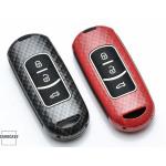 Nachleuchtende Schlüssel Cover passend für Mazda Autoschlüssel rot HEK20-MZ2-3