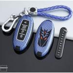 Nachleuchtende Schlüssel Cover passend für Nissan Autoschlüssel rot HEK20-N8-3