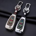 Alu Hartschalen Schlüssel Cover passend für Ford Autoschlüssel mit Leuchtfunktion  HEK17-F4