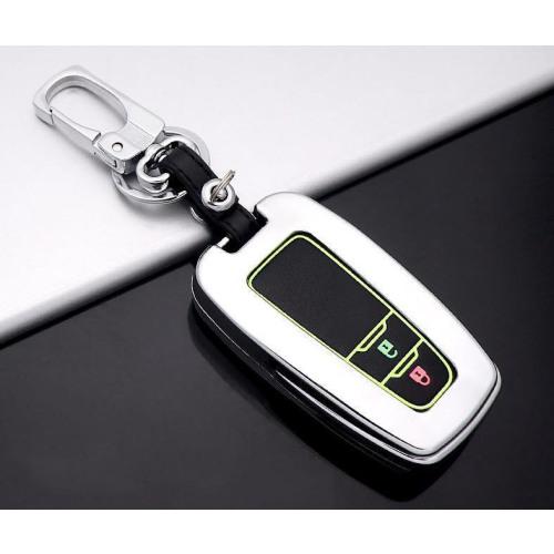 Alu Hartschalen Schlüssel Cover passend für Toyota Autoschlüssel mit Leuchtfunktion  HEK17-T5