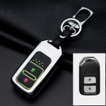 Alu Hartschalen Schlüssel Cover passend für Honda Autoschlüssel mit Leuchtfunktion  HEK17-H11