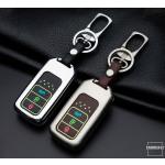 Alu Hartschalen Schlüssel Cover passend für Honda Autoschlüssel mit Leuchtfunktion  HEK17-H12