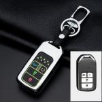 Alu Hartschalen Schlüssel Cover passend für Honda Autoschlüssel mit Leuchtfunktion  HEK17-H13