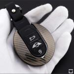 Premium Carbon-Look Aluminium Schlüssel Cover passend für MINI Schlüssel  HEK32-MC3
