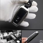 Premium Carbon-Look Aluminium Schlüssel Cover passend für Toyota Schlüssel  HEK32-T6