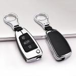 Aluminium, Leder Schlüssel Cover passend für Audi Schlüssel  HEK15-AX3