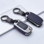 Alu Leder Schlüssel Cover für VW Skoda Seat V1-V2 Kollektion-HEK15