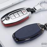 Alu Leder Schlüssel Cover für Nissan N5-N8 Kollektion-HEK15