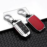 Aluminium, Leder Schlüssel Cover passend für Land Rover Schlüssel  HEK15-LR2