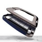 Aluminium, Leder Schlüssel Cover passend für BMW Schlüssel anthrazit/schwarz HEK15-B4-51