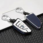 Alu Leder Schlüssel Cover für BMW B6-B7...