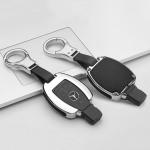 Alu Leder Schlüssel Cover für Mercedes-Benz...