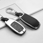 Alu Leder Schlüssel Cover für Mercedes-Benz M9...
