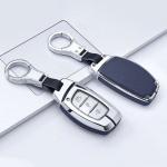 Aluminium, Leder Schlüssel Cover passend für Hyundai Schlüssel  HEK15-D1