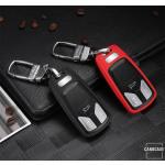 Silikon Schlüssel Cover passend für Audi Schlüssel AX6 rot