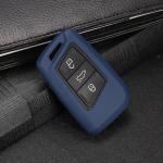 Silikon Schlüssel Cover passend für Volkswagen, Skoda, Seat Schlüssel V4, ST4, SV4 rot