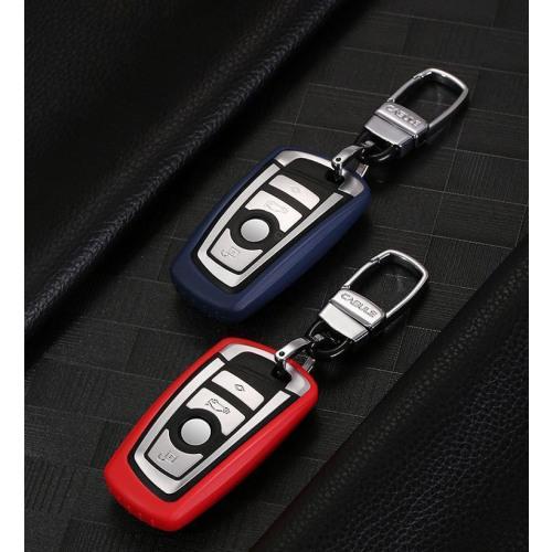 Silikon Schlüssel Cover passend für BMW Schlüssel B4, B5 rot