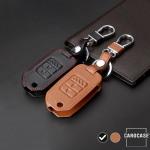 Leder Schlüssel Cover passend für Honda Schlüssel H9 schwarz