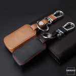 Leather key case/cover incl. keychain for Honda remote key
