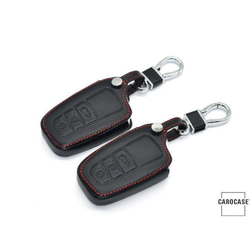 Leather key case/cover incl. keychain for Toyota remote key