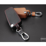 Leather key case/cover incl. keychain for Toyota, Citroen, Peugeot remote key
