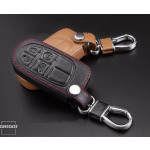 Leather key case/cover incl. keychain for Jeep, Fiat remote key