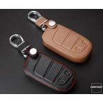 Leder Schlüssel Cover passend für Jeep, Fiat Schlüssel J4