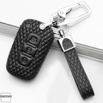 BLACK-ROSE Leder Schlüssel Cover für Hyundai Schlüssel  LEK4-D3