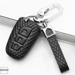 BLACK-ROSE Leder Schlüssel Cover für Hyundai Schlüssel  LEK4-D4